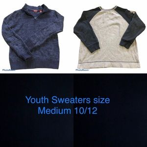 Youth Sweaters Old Navy and Arizona jeans size M